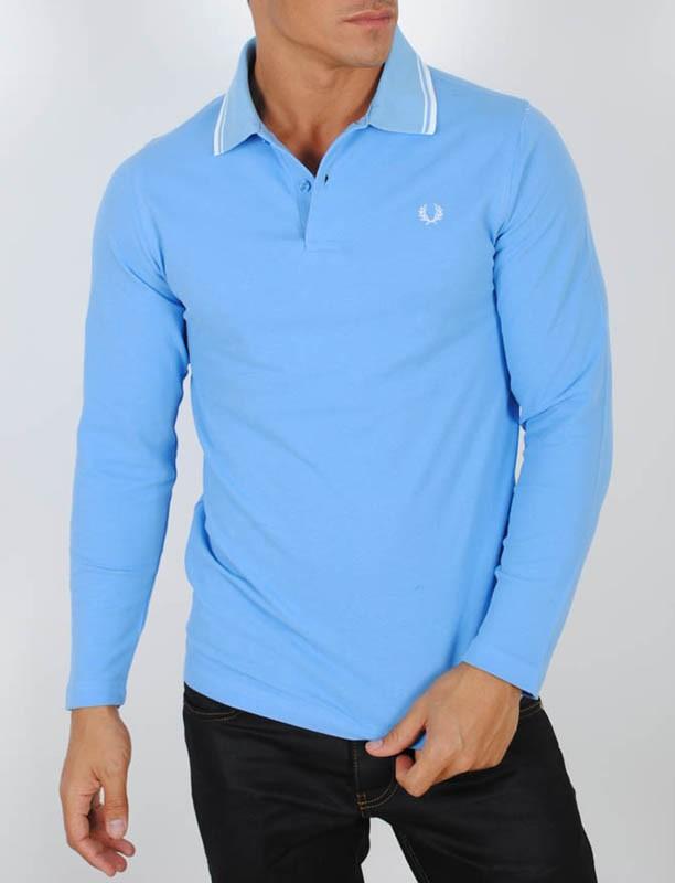0321ee5826c05f polo-camisero-pique-cuello camisa-manga-larga-azul-claro ...